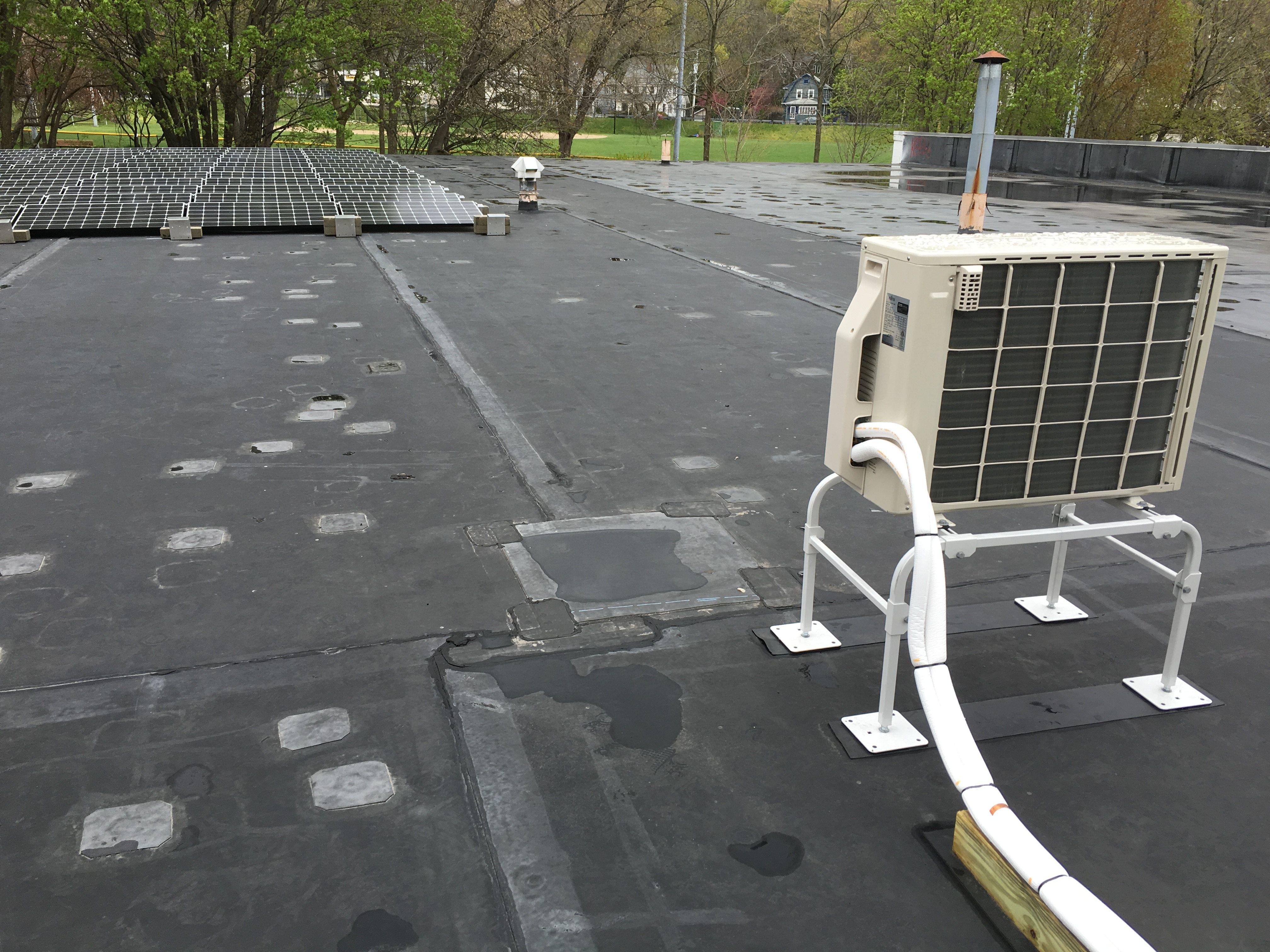solar and HVAC minisplit on our Arlington warehouse
