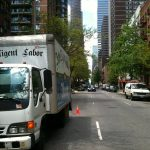 one of our 14' isuzu moving trucks in Manhattan, NYC, NY