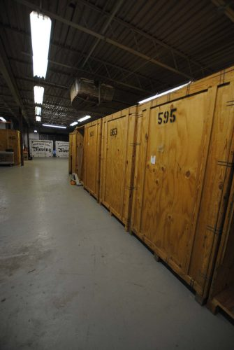 storage vaults in our warehouse
